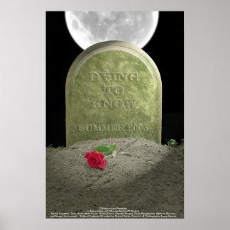 Muerte para saber el cartel de película póster