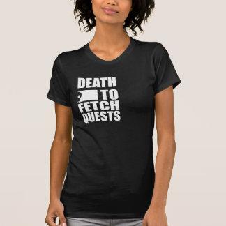 Muerte para traer las búsquedas (negro) camiseta