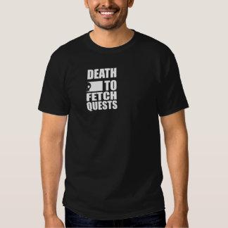 Muerte para traer las búsquedas (negro) camisetas