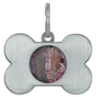 Muerte y vida de Gustavo Klimt Placa Mascota