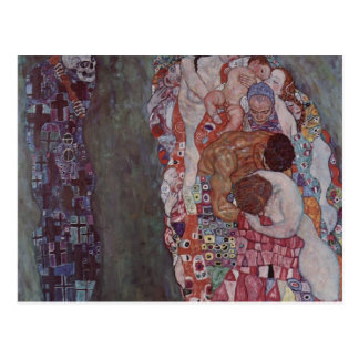 Muerte y vida de Gustavo Klimt- Postal