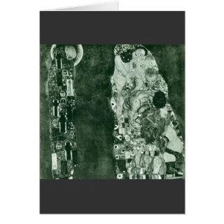 Muerte y vida (estado anterior) por Gustavo Klimt Tarjeta