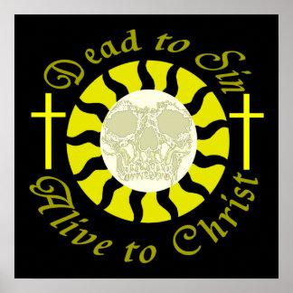 Muertos a sin - vivo a Cristo Póster