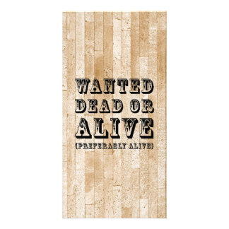 Muertos o vivo queridos tarjetas con fotos personalizadas