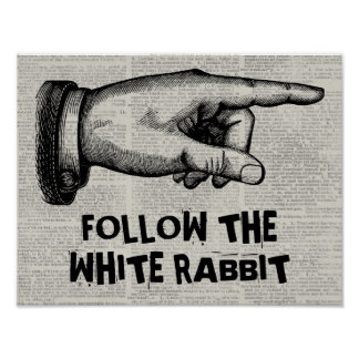 Muestra adaptable de la mano del vintage póster