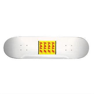 Muestra amarilla de la venta patines