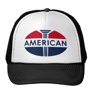 Muestra americana de la gasolinera. Versión plana Gorras De Camionero