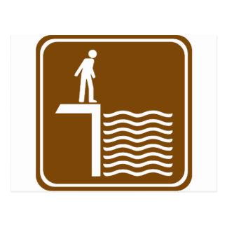 Muestra amonestadora de la carretera del agua prof tarjeta postal