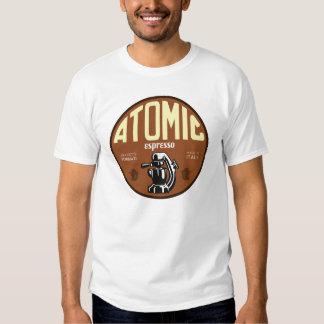 Muestra atómica de la máquina de café express camiseta