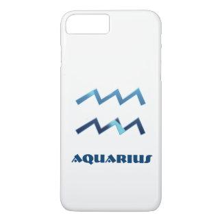 Muestra azul del zodiaco del acuario en blanco funda iPhone 7 plus
