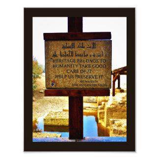 Muestra bautismal del sitio fotografías