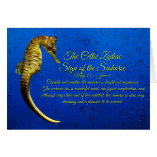 Muestra céltica del zodiaco del cumpleaños de los tarjeta de felicitación