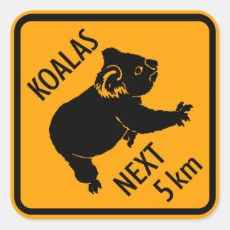 Muestra de Australia del oso de koala (paquete de Pegatina Cuadradas
