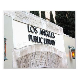 Muestra de biblioteca pública de Los Ángeles Impresiones Fotograficas