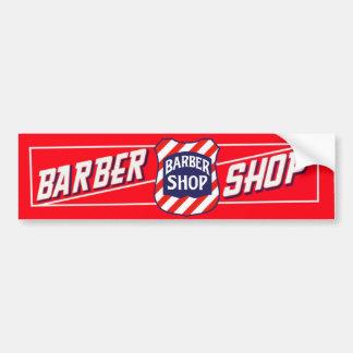 Muestra de la barbería pegatina para coche