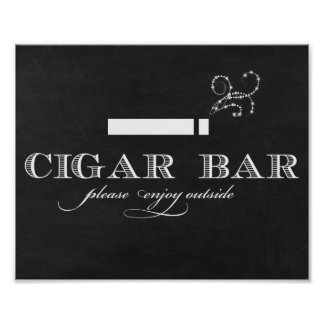 Muestra de la barra del cigarro de la pizarra póster