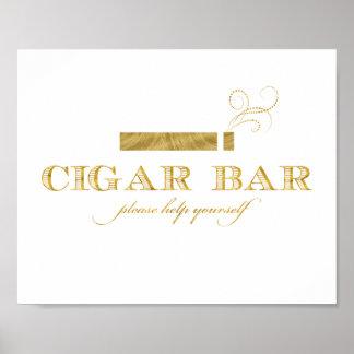 Muestra de la barra del cigarro - falso reflejo de póster