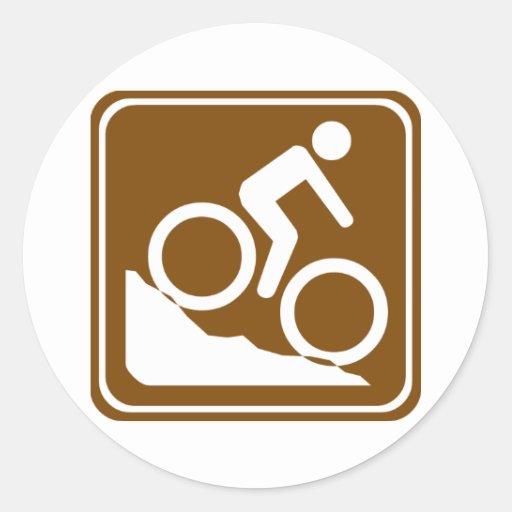 Muestra de la carretera de BMX Etiquetas Redondas
