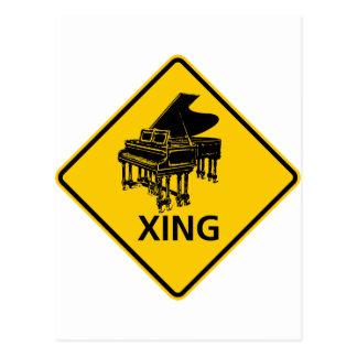 Muestra de la carretera de la travesía del piano postal