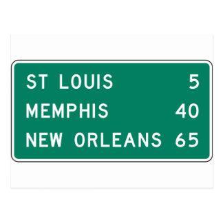 Muestra de la carretera de St. Louis Memphis New Postal