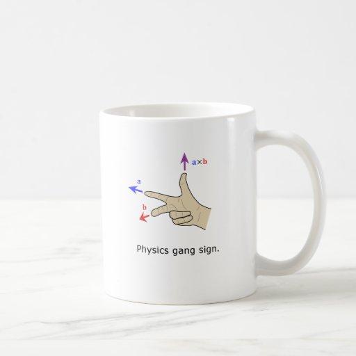 Muestra de la cuadrilla de la física del producto  taza de café