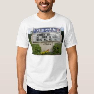 Muestra de la iglesia camiseta