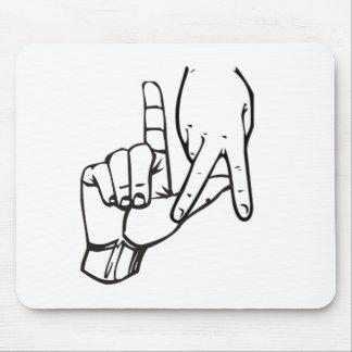 Muestra de la mano de Los Ángeles Alfombrilla De Ratón
