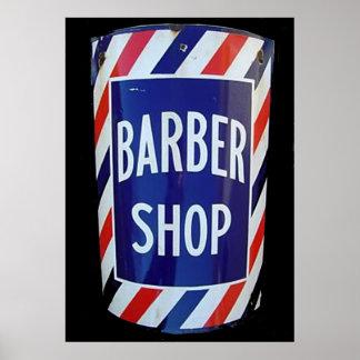 muestra de la peluquería de caballeros del vintage póster