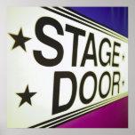 Muestra de la puerta de etapa del teatro impresiones