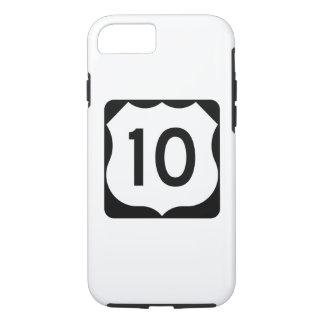 Muestra de la ruta 10 de los E.E.U.U. Funda iPhone 7
