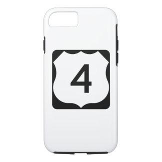 Muestra de la ruta 4 de los E.E.U.U. Funda iPhone 7