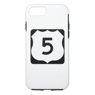 Muestra de la ruta 5 de los E.E.U.U. Funda iPhone 7