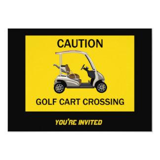 Muestra de la travesía del carro de golf de la invitación 12,7 x 17,8 cm