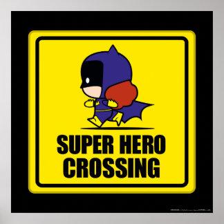 Muestra de la travesía del superhéroe del Batwoman Póster