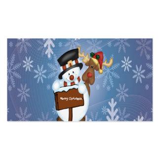 Muestra de las Felices Navidad con el muñeco de ni Tarjeta Personal