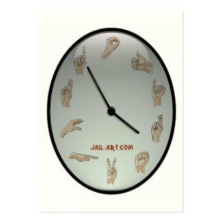 muestra de las tijeras de jail-art.com tarjetas de visita grandes