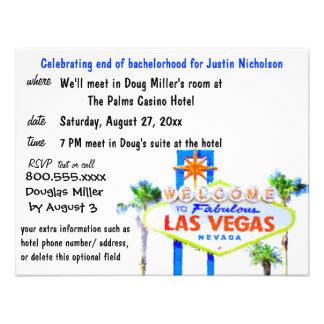 Muestra de Las Vegas de la despedida de soltero Invitación