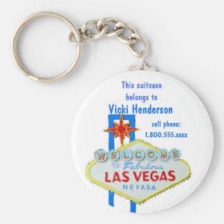 Muestra de Las Vegas de la etiqueta del bolso de Llavero Redondo Tipo Chapa