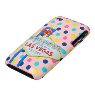 Muestra de Las Vegas en rosa iPhone 3 Case-Mate Protectores