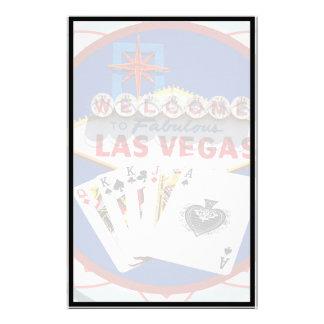 Muestra de Las Vegas y ficha de póker de las Papeleria Personalizada