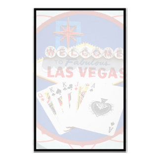 Muestra de Las Vegas y ficha de póker de las tarje Papelería De Diseño