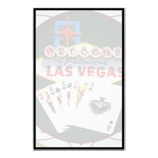 Muestra de Las Vegas y ficha de póker de las tarje Papelería Personalizada