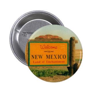 Muestra de New México Chapa Redonda De 5 Cm