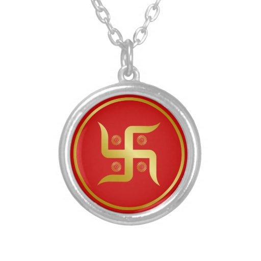 Muestra de oro de la cruz gamada grimpola personalizada