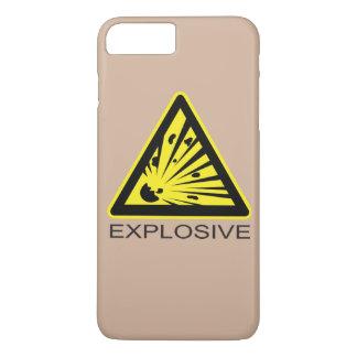 Muestra de peligro explosiva funda iPhone 7 plus