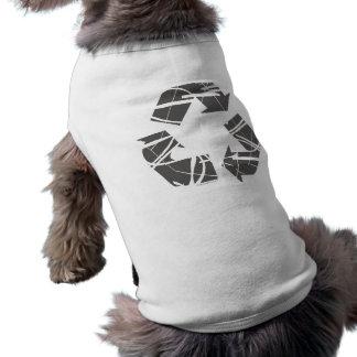 Muestra de reciclaje gris camiseta sin mangas para perro