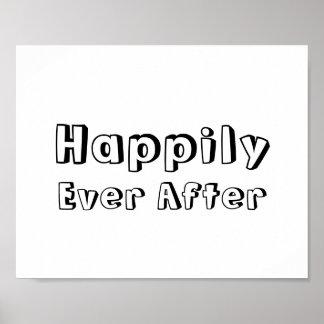 """Muestra del apoyo de la foto del boda """"feliz siemp póster"""