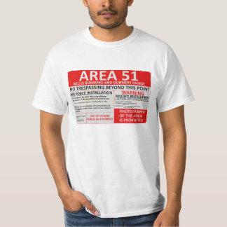 Muestra del área 51 camiseta