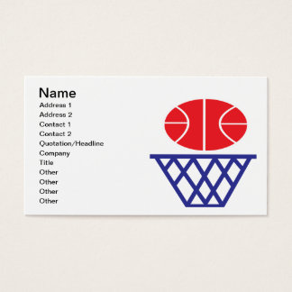 Muestra del baloncesto tarjeta de negocios