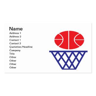 Muestra del baloncesto tarjetas de visita